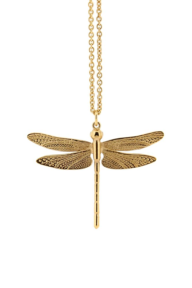 dc2778784 Silver Dragonfly Necklace