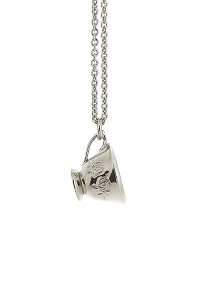 Silver Teacup Necklace